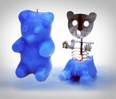 Gummi Bear Skeleton Candle Reveals the Horror Within After You Light it Up