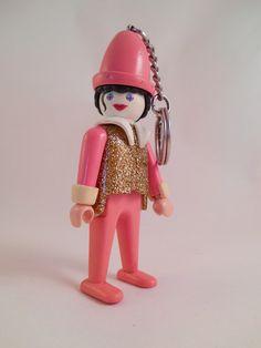 Vintage Original Promotional 1974 PLAYMOBIL Mime Clown Keychain #etsy #playmobil