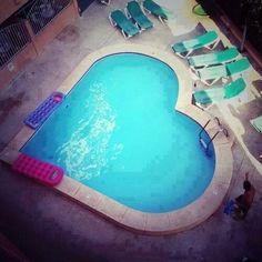swimming pools, dream pools, blue, dream homes, heart shapes, backyard, hot tubs, dream houses, hearth