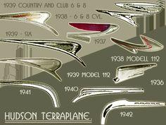 Hudson Hood Ornaments 1937-42