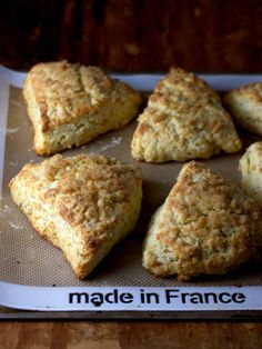 Pear, ginger and rosemary scones