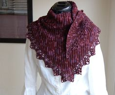 Ravelry: Merlot Shawl pattern by Julia Vaconsin €3.00 EUR about $3.82