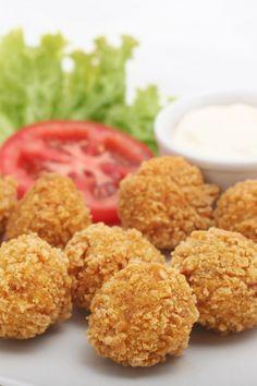 Buffalo Chicken Cheese Balls with Blue Cheese Dip Recipe