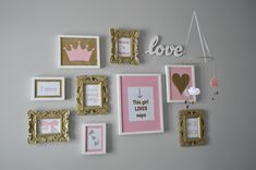 Pink, Gold, and Grey Nursery