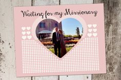 Personalized missionary girlfriend/boyfriend countdown chart idea, shower invitations, birthday invitations, mous invit, card, print, babi shower, parti, baby showers