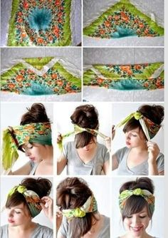 How to tie a bandanna