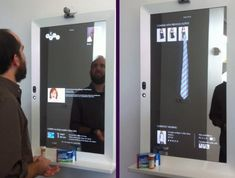 Interactive Mirror #tech #gadget