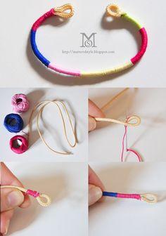 arm party diy, diy, my diy, fashion diy, diy bracelets, rope bracelets, scarf bracelet, ball chain bracelet, crystal chain bracelet, yarn br...