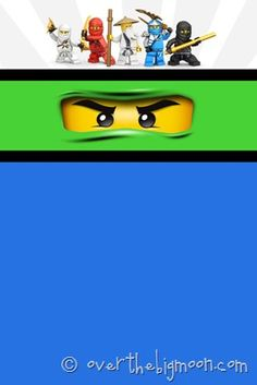 Ninjago Birthday Party with Free Printables: the invite