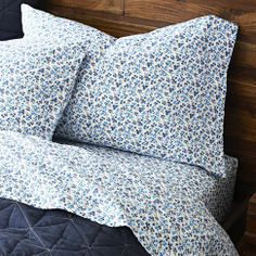 Sarah Campbell Organic Floral Blooms Sheet Set from west elm