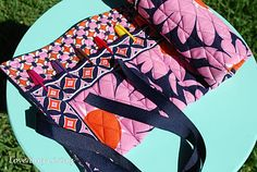 Vera Bradley marker roll up out of a placemat.  Great gift.  How about for teachers or even a kid with a tote & paper.