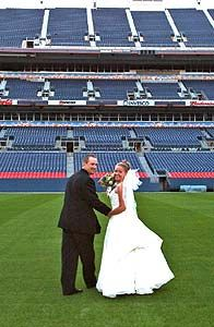 Sports Authority Field at Mile High~ YES they have lots of weddings here!