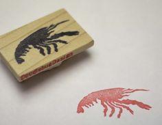 Crawfish Handcarved Stamp by doodlebugdesign on Etsy, $12.00