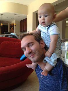 Unconditional Love - Limbless Nick Vujicic and his Wife and Baby Son Kiyoshi
