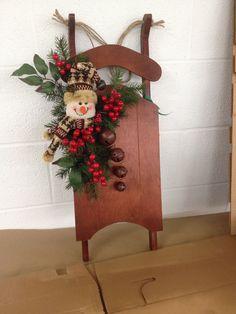 decor, craft, sleigh, sled, christma