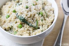 Skinny Mom Recipe: Quinoa Spinach Parmesan Risotto: 4 WW points plus