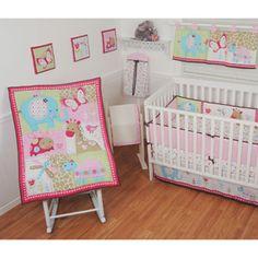 Sumersault Best Friends 10-Piece Nursery-in-a-Bag Crib Bedding Set