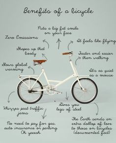 "Another great version of ""Benefits of a #Bicycle"" 