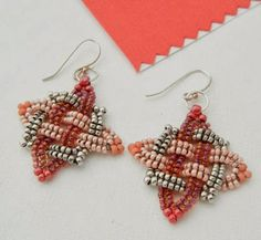 Backstory Beads: Beadwoven earrings