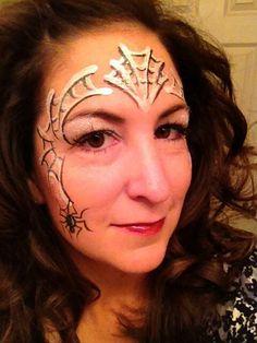 spiders, paint idea, spider webs, halloween facepaint, face paintings, halloween makeup, facepaint fun, facebodi paint, facepaint design