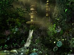 fantasy art magical forest