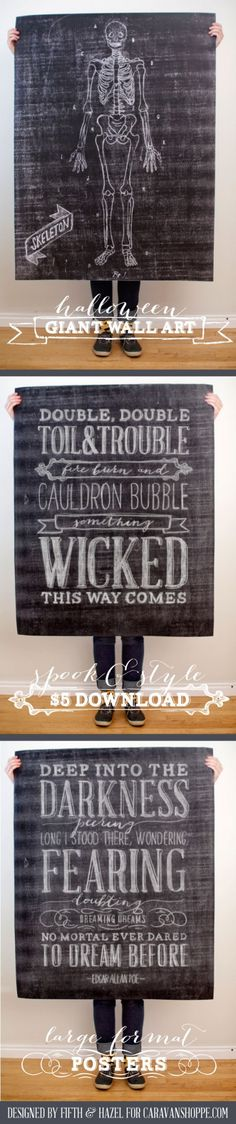 $5 printable Halloween wall art from Caravanshoppe.com Repinned from Vital Outburst clothing vitaloutburst.com