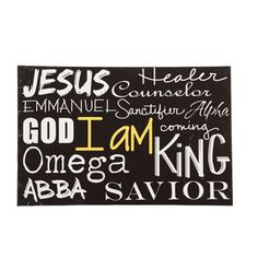 Names of Jesus Canvas Wall Art -- ChristianGiftsPlace.com Online Store
