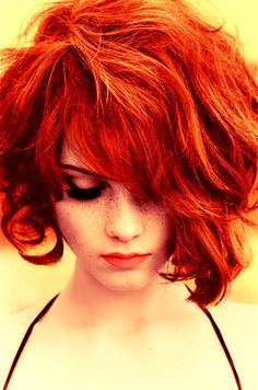 hair colors, orang, red hair, short curly hair, shorts, bangs, redheads, gingers, freckles