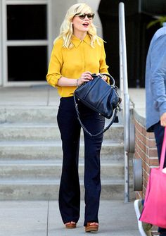 how to wear a yellow blouse