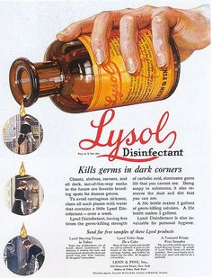 Lysol Disinfectant ad, 1921 by Gatochy, via Flickr