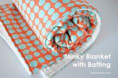 Minky Baby Blanket with Batting Tutorial
