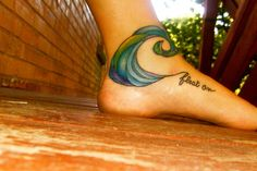 When I got my waves on my ankle I thought one wave would look lame...however this is way cooler than mine! :(