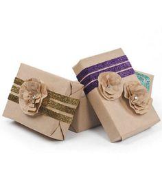 Glitz & glam #gift wrap :) #ribbon & #rosette