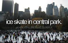 bucketlist, christmas time, the bucket list, ice skate, figure skating, ice skating, central park, christmas trees, bucket lists