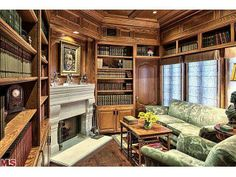 A stately home library.  Los Angeles, CA Coldwell Banker Residential Brokerage $24,950,000