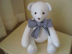 Urso de tecido articulado
