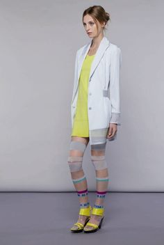 Lookbook: Issey Miyake Pre Spring 12 by Estelle Hanania. The tights/leggings are the coolest thing on the planet.