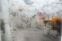DIY snow frosted windows. How COOL!