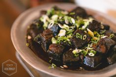 A client favorite: our Oregon Country braised short ribs with a Malbec reduction. Ravishing Radish Catering. Lucas Mobley Photography.