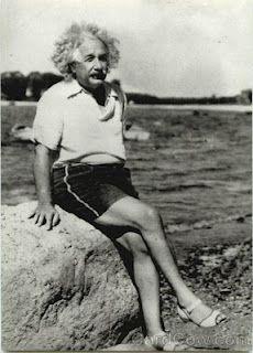 Einstein at the beach 1945