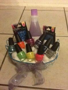 Gift basket for teen girl idea