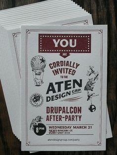 Letterpress Invitation: Drupalcon Afterparty | Flickr - Photo Sharing!