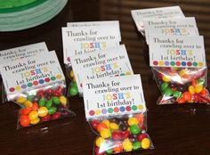 Party favors at a Very Hungry Caterpillar Party #veryhungrycaterpillar #partyfavors