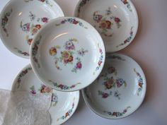 Vintage Epiag Aich Czechoslovakia China Floral by thechinagirl, $34.50