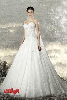 احدث موديلات فساتين زفاف راقية (1) فساتين عرايس شيك جدا لبنات انوثتك