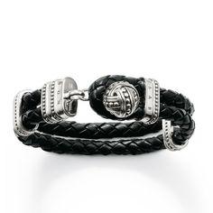 Knot Black Leather Bracelet