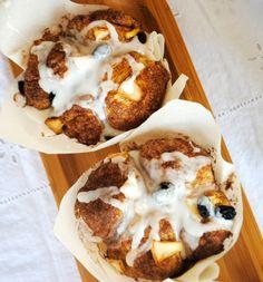 Cobblestone Muffins: copycat Panera apple, cinnamon, raisin muffins. DELISH.