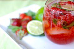 strawberry-ginger mojito