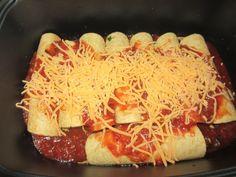 Vegetarian slow-cooker enchiladas