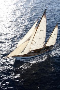 A Ketch Rig Close Hauled on Starboard Tack.